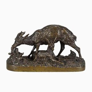 Antique Gazelle Sculpture by Christophe Fratin