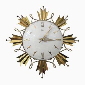 Horloge Murale en Laiton, années 40