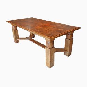 Ausziehbarer Esstisch aus Holz von Baptistin Spade, 1950er