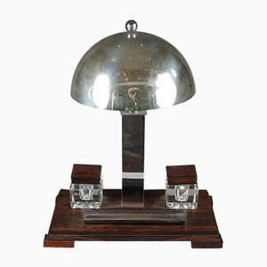 Art Deco Desk Lamp with Inkstand Set, 1930s