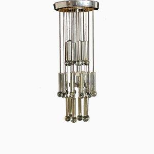 Lámpara de araña Mid-Century de Gaetano Sciolari