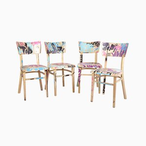 Mid-Century Czechoslovak Dining Chairs, Set of 4