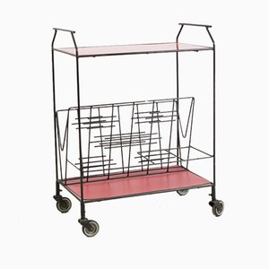 Mid-Century Glass Trolley