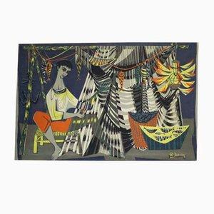 Tapestry from Debieve Robert, 1950s