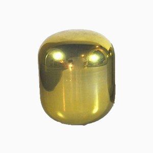 Goldene Vintage Stehlampe aus Glas, 1970er