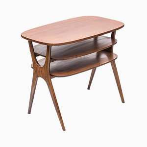 Table Basse Ovale en Teck, années 70