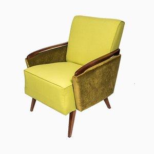 Polnischer Sessel mit Gestell aus Nussholz, 1950er