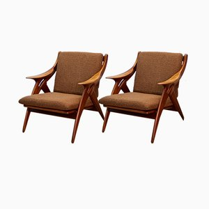 Vintage Dutch De Knoop Lounge Chairs from De Ster Gelderland, 1960s, Set of 2