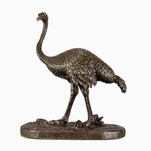Antique Ostrich Sculpture by Alfred Barye