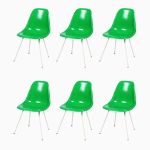 DSX Dining Chairs by Charles & Ray Eames for Herman Miller, 1970s, Set of 6