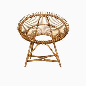 Niederländischer Mid-Century Stuhl aus Rattan, 1960er