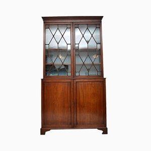 Antique Georgian Mahogany Bookcase Cabinet