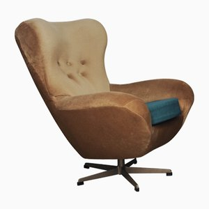 Czech Swivel Lounge Chair by Jindřich Halabala for UP Závody, 1950s