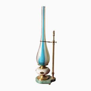 Lámpara de pie italiana vintage de cristal de Murano, años 60