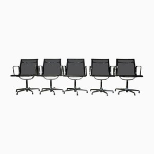 Vintage EA108 Swivel Chairs by Charles & Ray Eames for ICF De Padova, 1990s, Set of 5