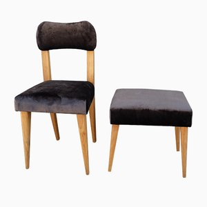 Chair and Ottoman, 1960s, Set of 2