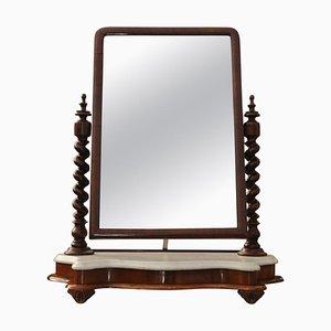 Miroir de Courtoisie Ancien en Marbre & Acajou, Angleterre