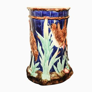 Antique Majolica Ceramic Garden Stool from Thomas Forester & Sons