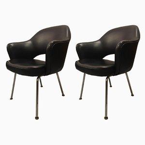 Armlehnstühle aus Vinyl von Eero Saarinen für Knoll Inc./Knoll International, 1958, 2er Set