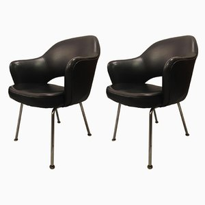 Vinyl Armchairs by Eero Saarinen for Knoll Inc./Knoll International, 1958, Set of 2