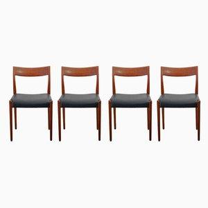Swedish Kontiki Wooden Dining Chairs by Yngve Ekström for Hugo Troeds, 1960s, Set of 4
