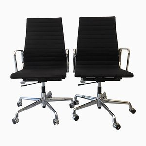 Model EA 119 Black Desk Chair by Charles & Ray Eames for Vitra, 1990s
