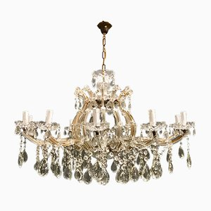 Large Italian Murano Glass Chandelier, 1940s
