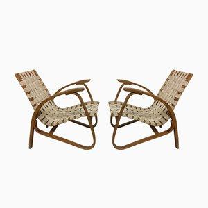 Stuhl mit Gestell aus Bugholz von Jan Vanek für Spojene UP Zavody, 1930er, 2er Set
