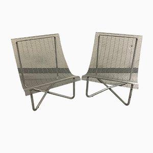 Sessel mit Gestell aus Metall, 1980er, 2er Set