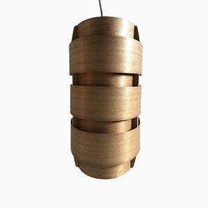 Schwedische V155 Wandlampe aus Kiefernholz von Hans-Agne Jakobsson für Ellysett, 1950er