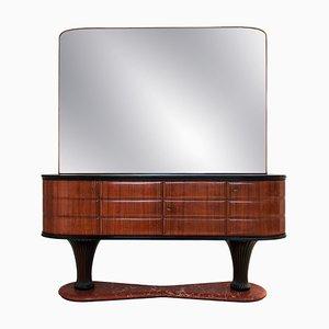 Comò in palissandro con specchio di Vittorio Dassi per Dassi Mobili Moderni, Italia, anni '50