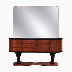 Italian Rosewood Dresser with Mirror by Vittorio Dassi for Dassi Mobili Moderni, 1950s