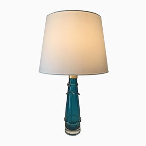 Lampe de Bureau en Verre par Carl Fagerlund pour Orrefors, Suède, années 50