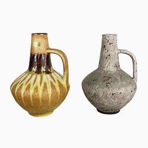Jarrones alemanes vintage de cerámica de Heinz Siery para Carstens Tönnieshof, años 70. Juego de 2