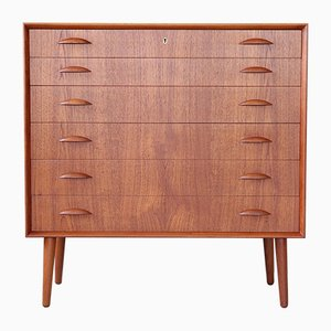 Mid-Century Danish Teak Commode by Johannes Sorth for Bornholm, 1960s