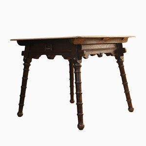 Antique Arts and Crafts Solid Oak Side Table from Liberty's