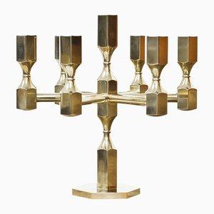 Schwedischer Vintage Kerzenhalter aus Messing von Lars Bergsten für Gusum, 1972