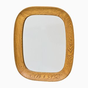 Vintage Swedish Oak Wall Mirror by Per Argén for Fröseke, 1950s