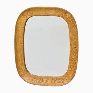 Vintage Swedish Oak Wall Mirror by Per Argén for Fröseke, 1950s