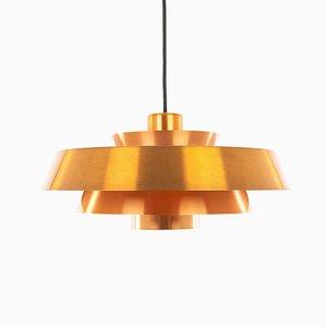 Lampe à Suspension Nova Vintage par Johannes Hammerborg pour Fog & Mørup, Danemark, années 70