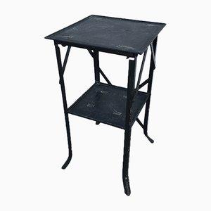Mesa de jardín francesa vintage de hierro