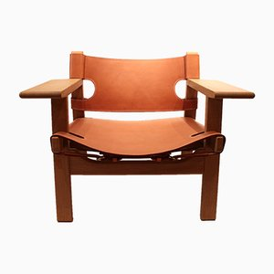 Model BM2226 Spanish Lounge Chair by Børge Mogensen for Fredericia, 1980s