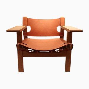 Spanischer Modell BM2226 Sessel von Børge Mogensen für Fredericia, 1980er