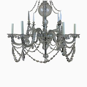 Antique Cut Glass Chandelier, 1790s
