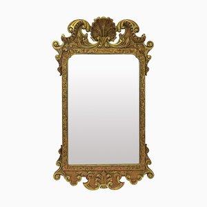 Espejo George III antiguo de madera dorada