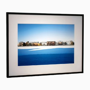 Wrapped in Blue Photograph in Black Oak Framed by Guy Russell for Qgallery, 2019