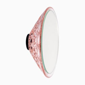 Saturn 155a Light Pink Wall Mirror by Andreas Berlin, 2019