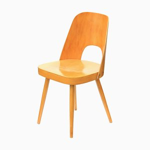 Oak & Plywood Dining Chair by Lubomir Hofman for TON, 1960s