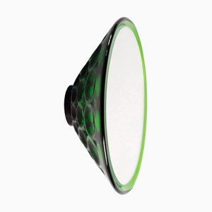 Saturn 155a Green Wall Mirror by Andreas Berlin, 2019