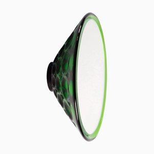 Specchio da parete Saturn 155a verde di Andreas Berlin, 2019